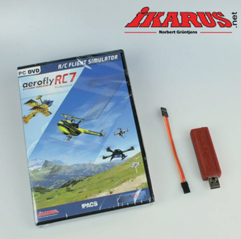 simulateur Ikarus Aerofly RC7 Pro + cable Graupner