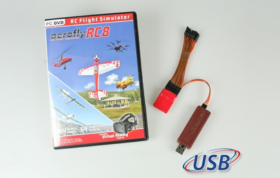 simulateur Ikarus Aerofly RC8 + interface universel